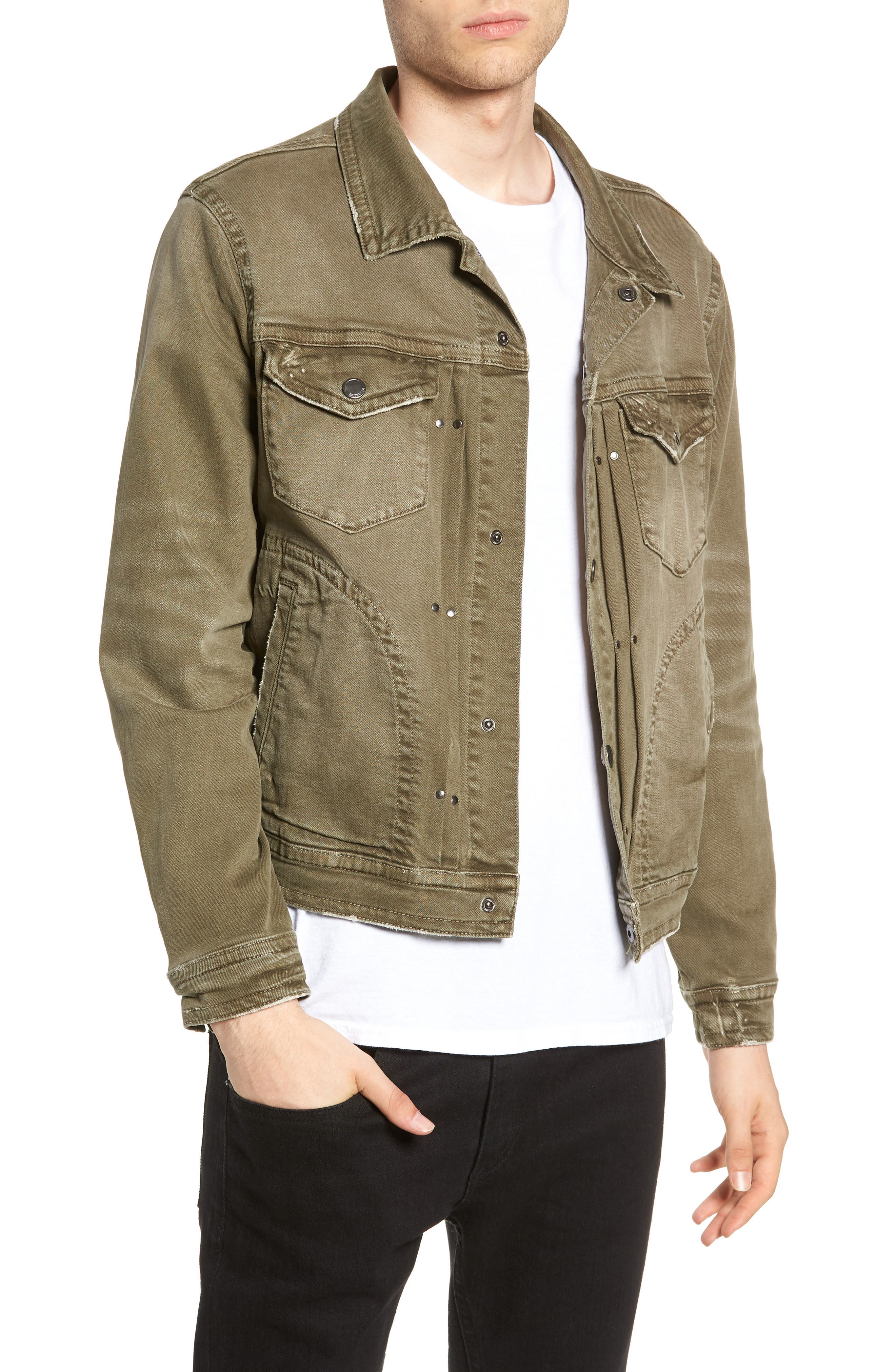 Denim Trucker Jacket,                         Main,                         color, Needless Selection