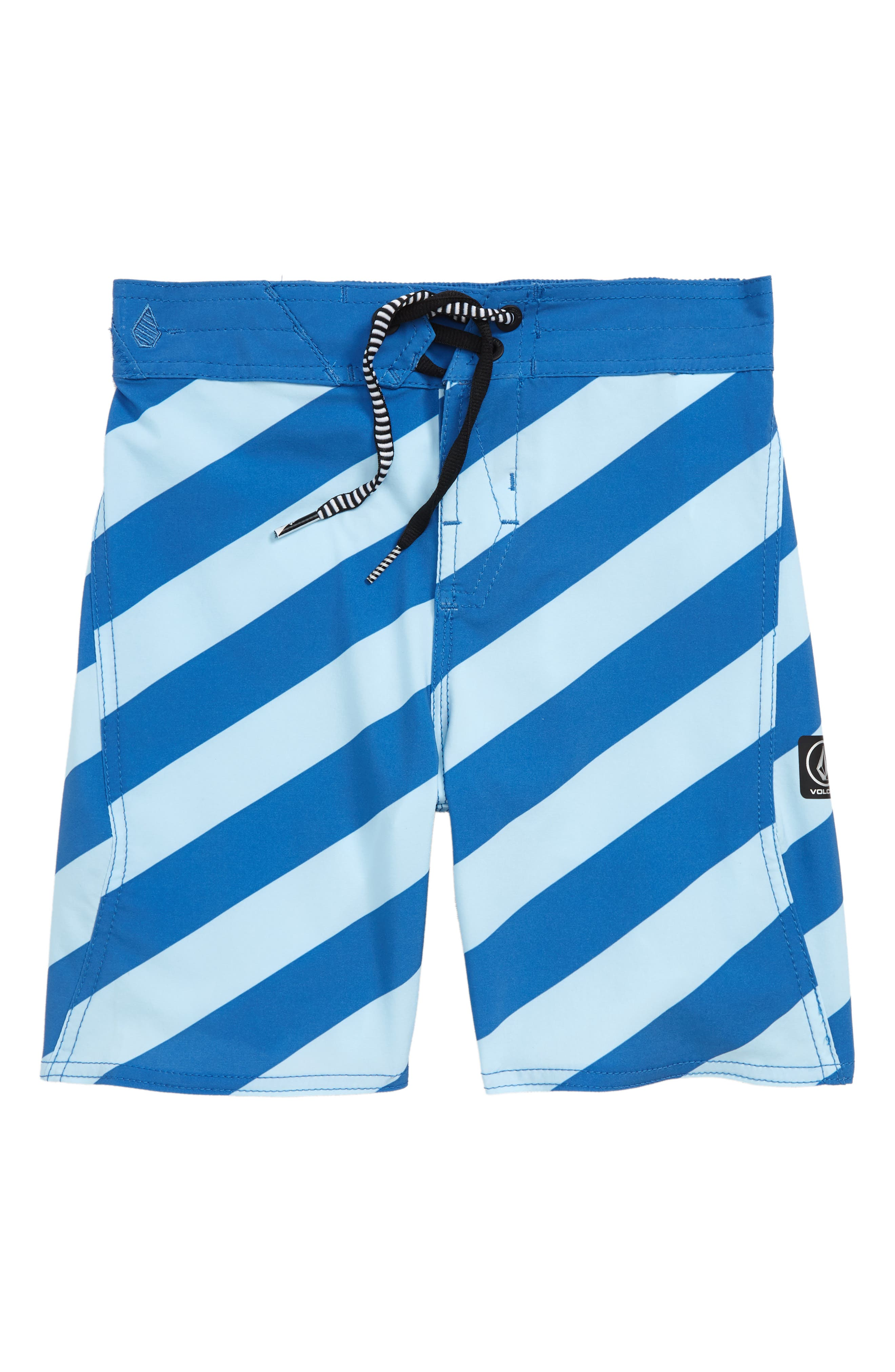 Stripey Board Shorts,                         Main,                         color, Blue Arctic