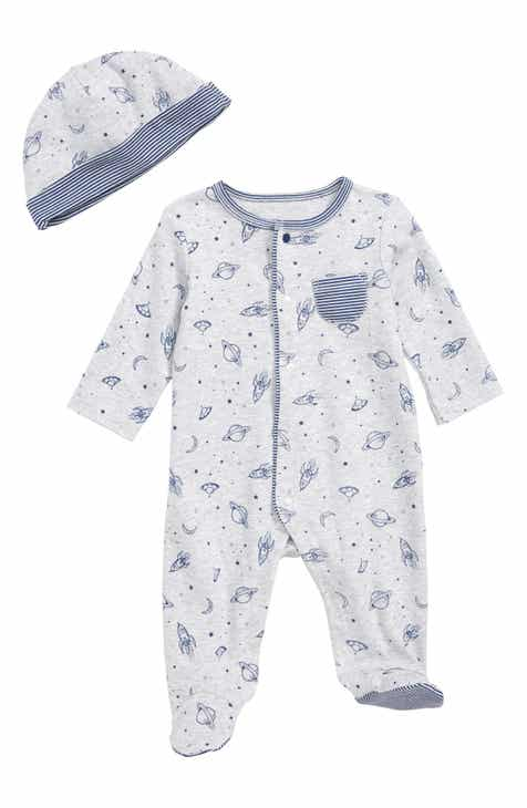 7cc8753dd Little Me Outer Space Footie & Hat Set (Baby Boys)