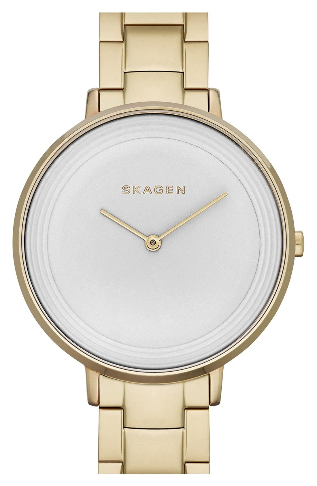 Main Image - Skagen 'Ditte' Round Bracelet Watch, 37mm