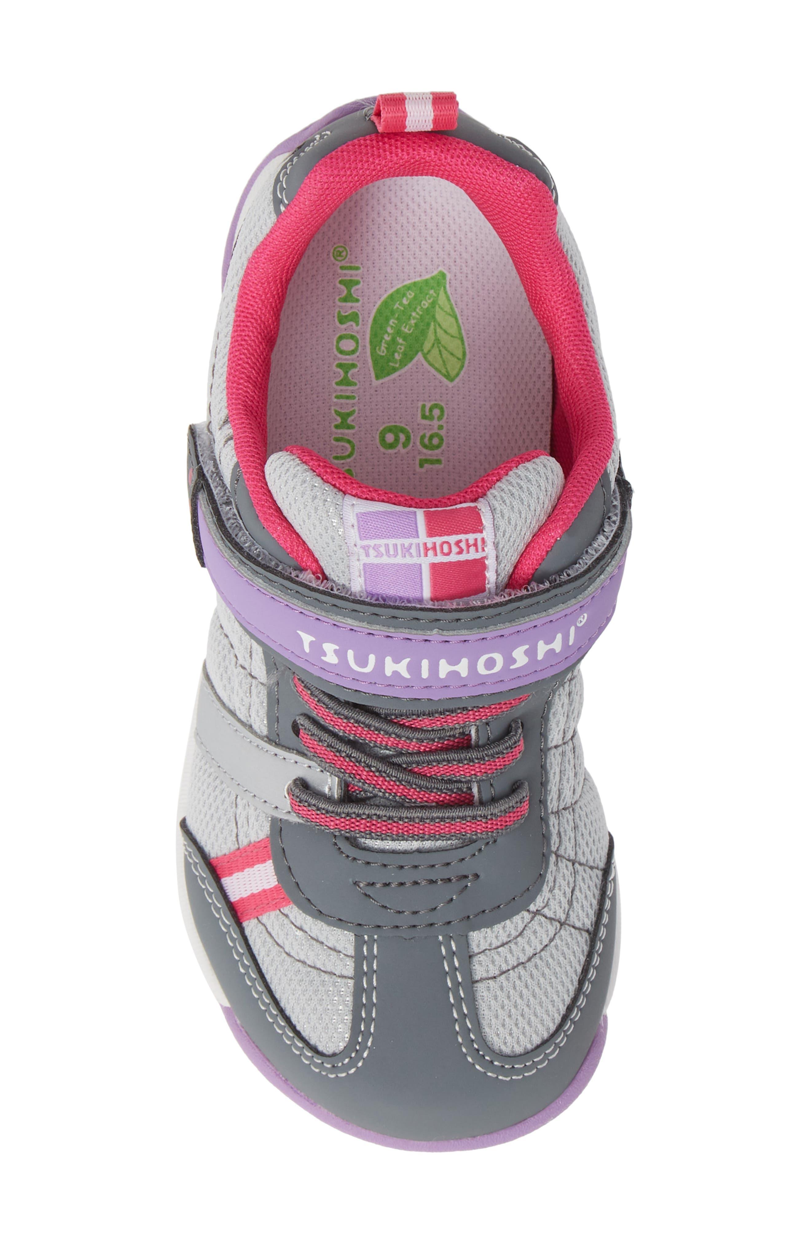 Kaz Washable Sneaker,                             Alternate thumbnail 4, color,                             Gray/ Purple