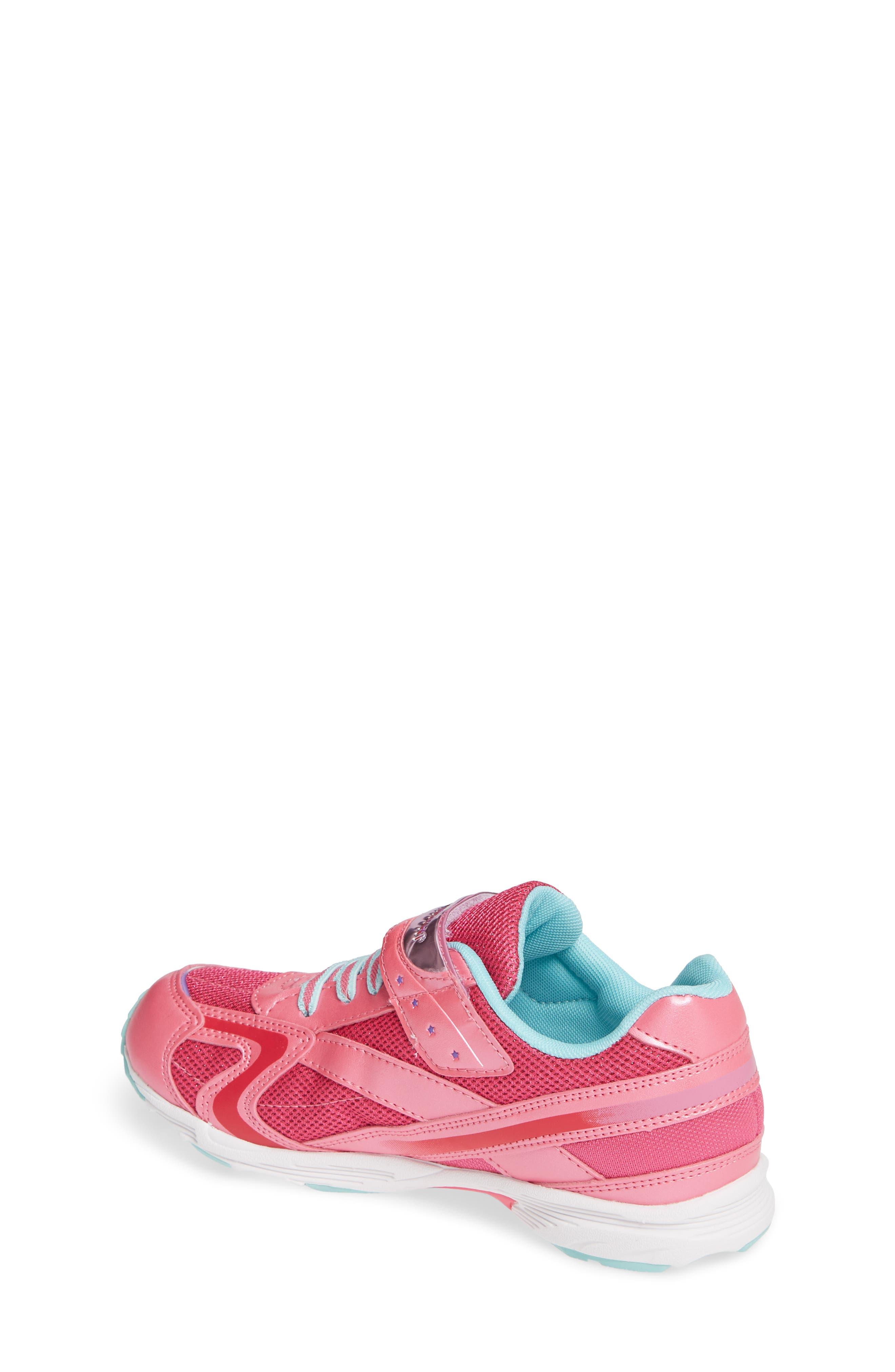 Glitz Washable Sneaker,                             Alternate thumbnail 2, color,                             Hot Pink/ Mint