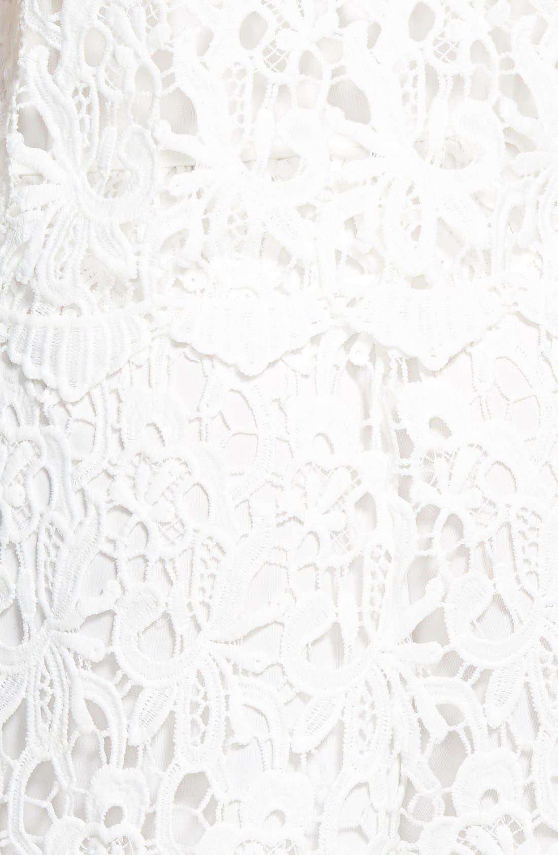 Alternate Image 3  - Leola Couture Lace Popover Romper (Juniors)