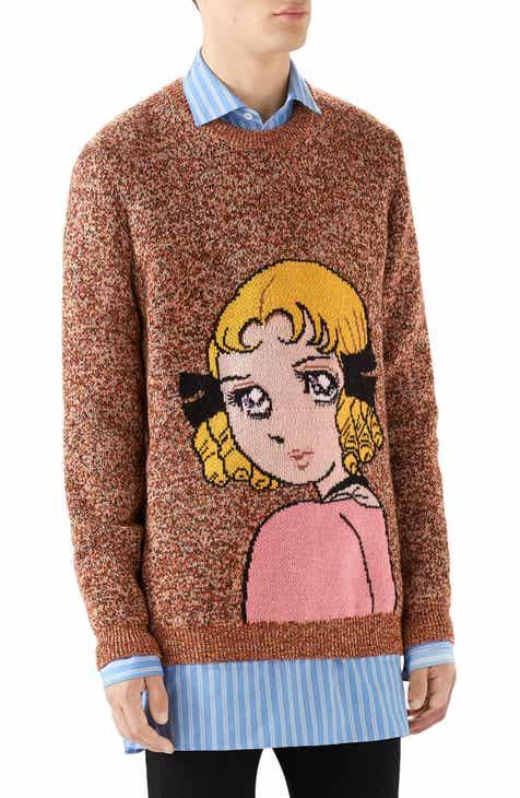 8bdef703c9475 Gucci Manga Intarsia Wool Crewneck Sweater