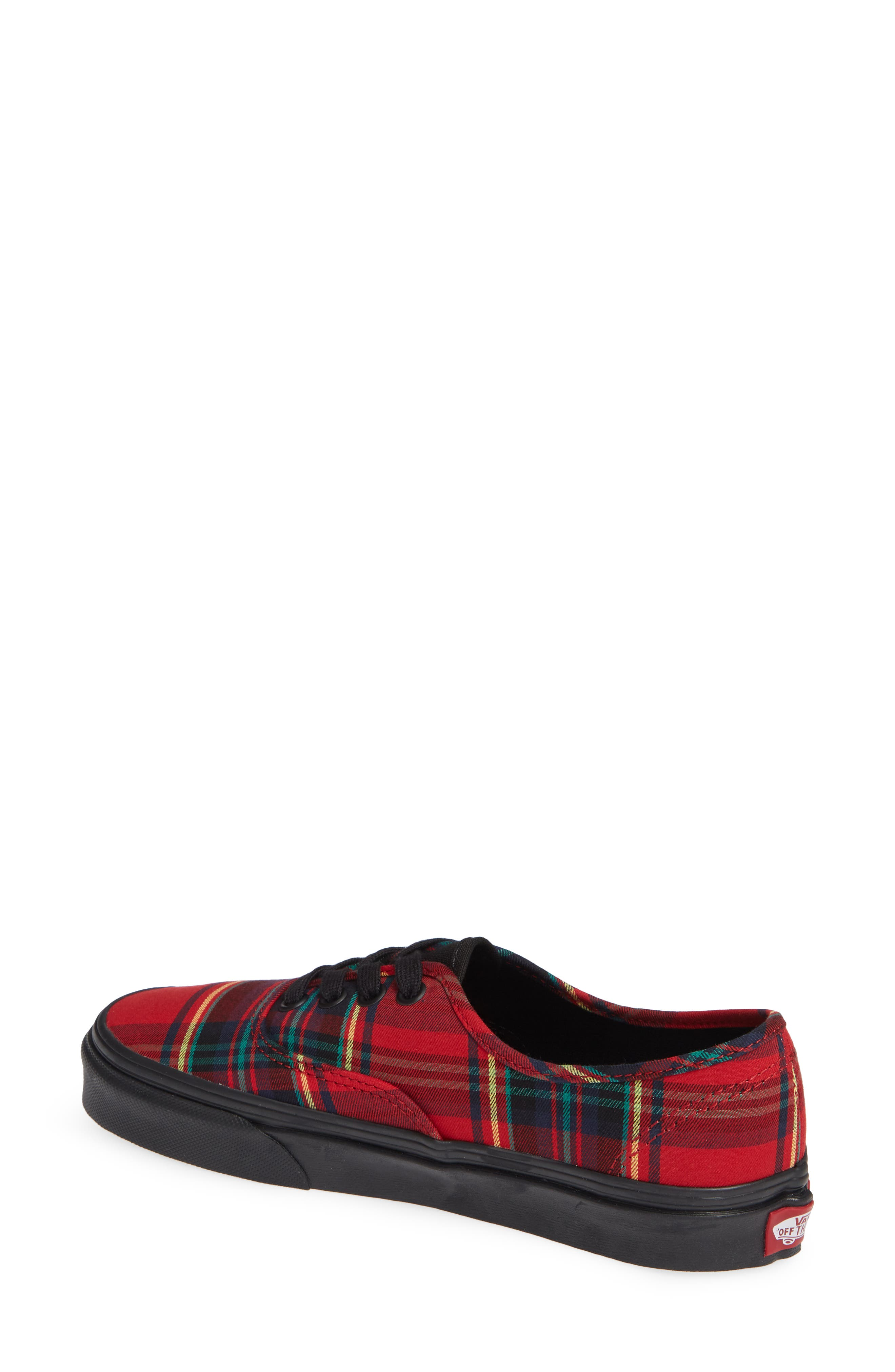 'Authentic' Sneaker,                             Alternate thumbnail 2, color,                             Plaid Mix Red