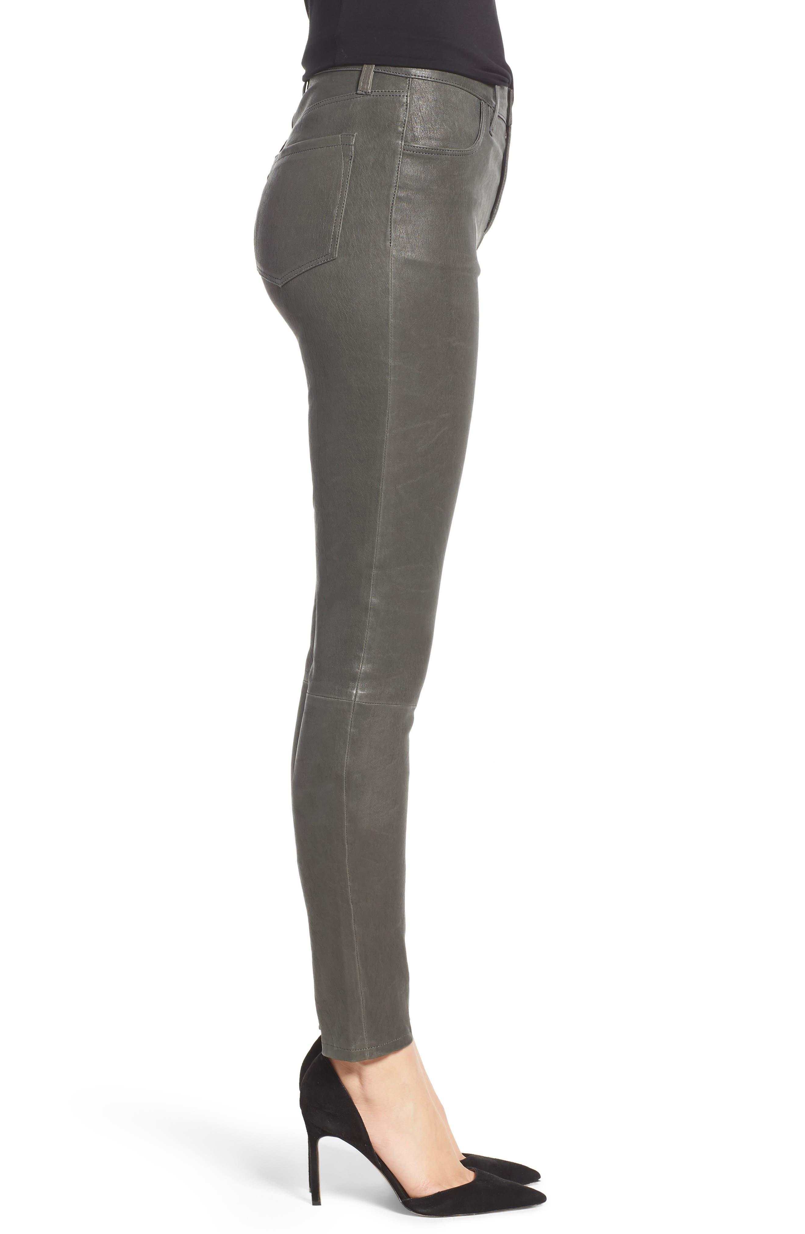 'Maria' Lambskin Leather Leggings,                             Alternate thumbnail 6, color,                             Granite