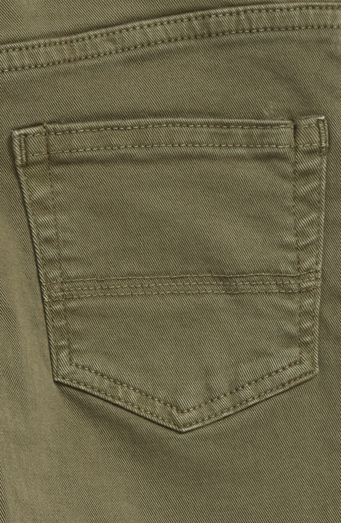 Slouch Twill Jeans,                             Alternate thumbnail 3, color,                             Olive