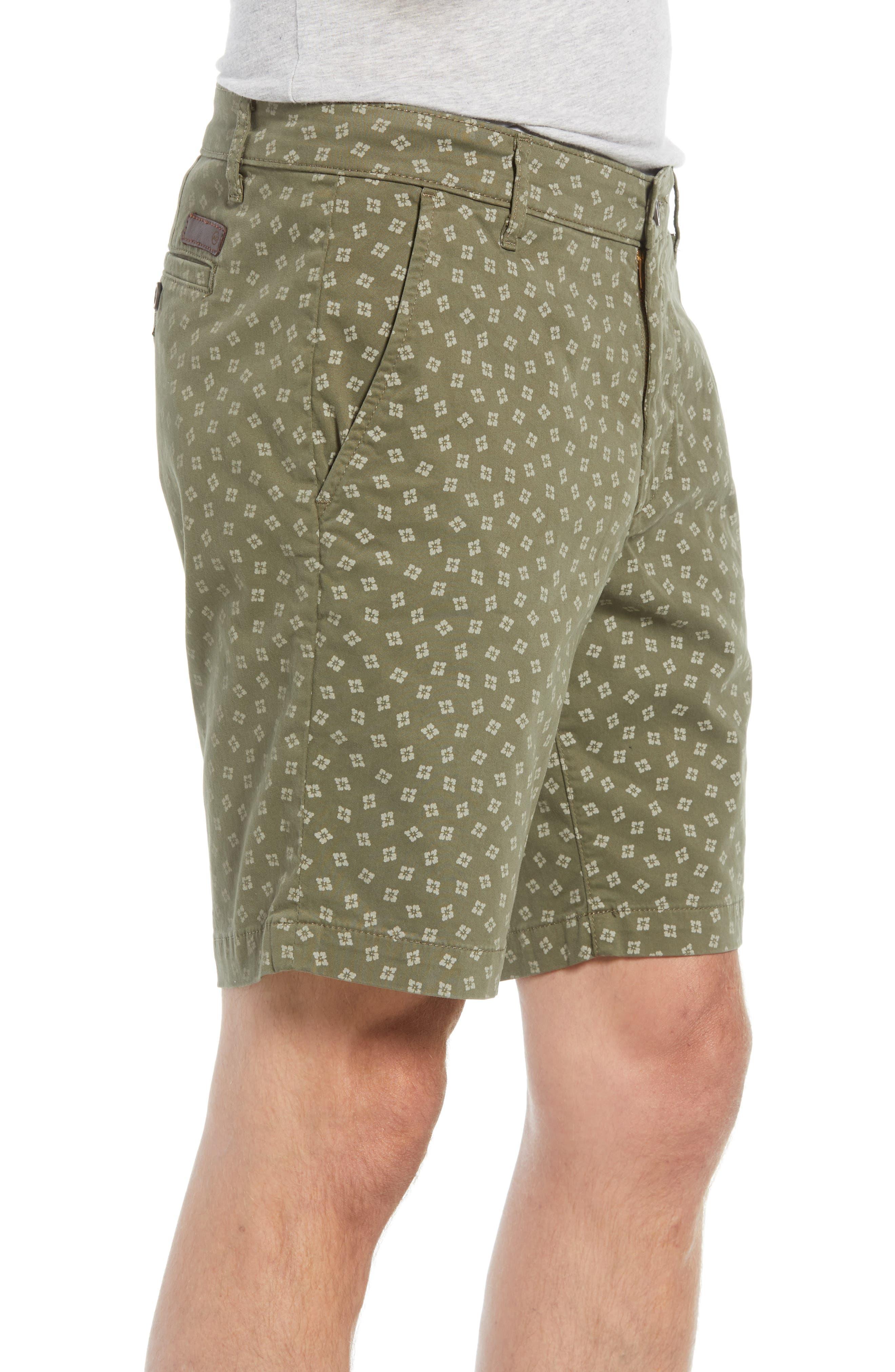 Flora Print Slim Fit Shorts,                             Alternate thumbnail 3, color,                             Flora Canyon Moss
