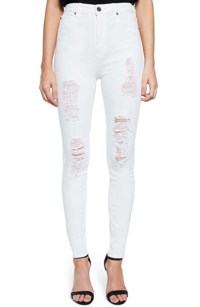 Khloe Super High Ripped Jeans