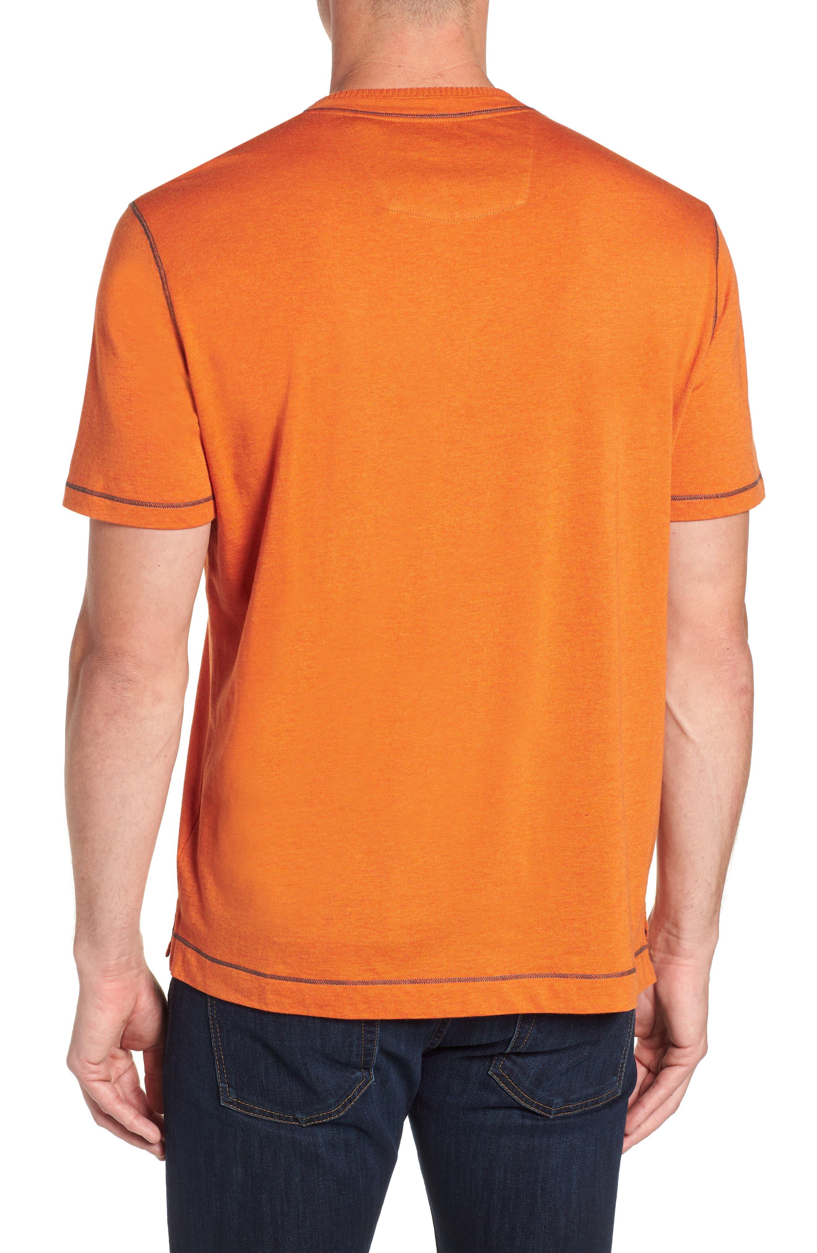 Traveler V-Neck T-Shirt,                             Alternate thumbnail 2, color,                             Orange