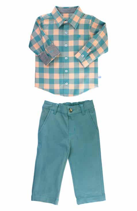 492e56417ab6b RuggedButts Buffalo Plaid Shirt   Pants Set (Baby Boys)