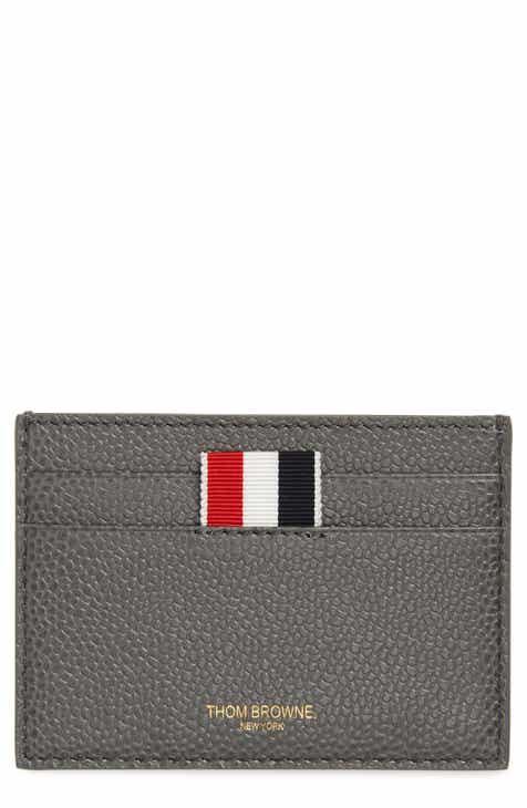 thom browne stripe leather card holder - Thom Browne Card Holder