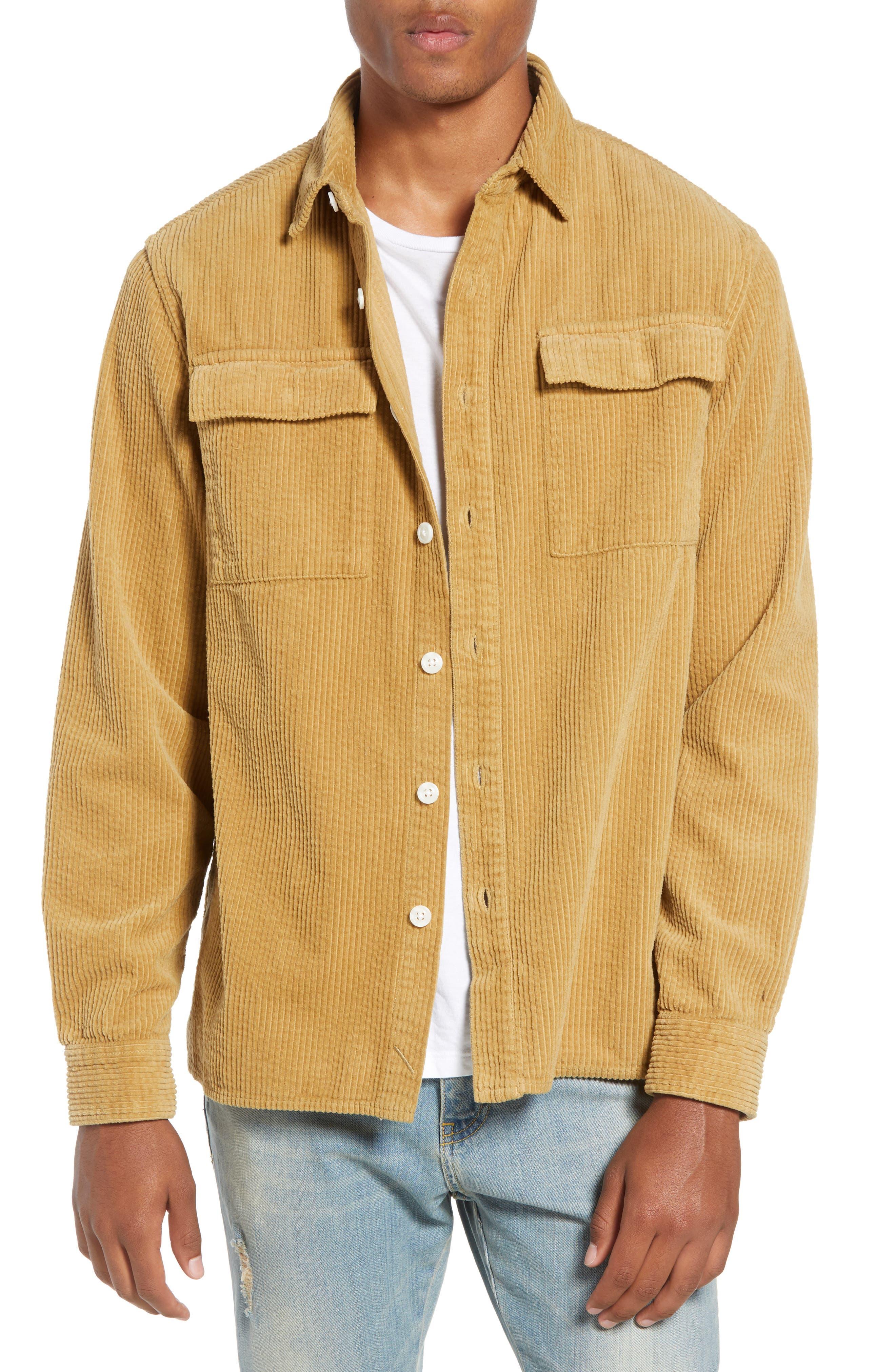 Magnus Heavy Corduroy Shirt,                         Main,                         color, British Khaki