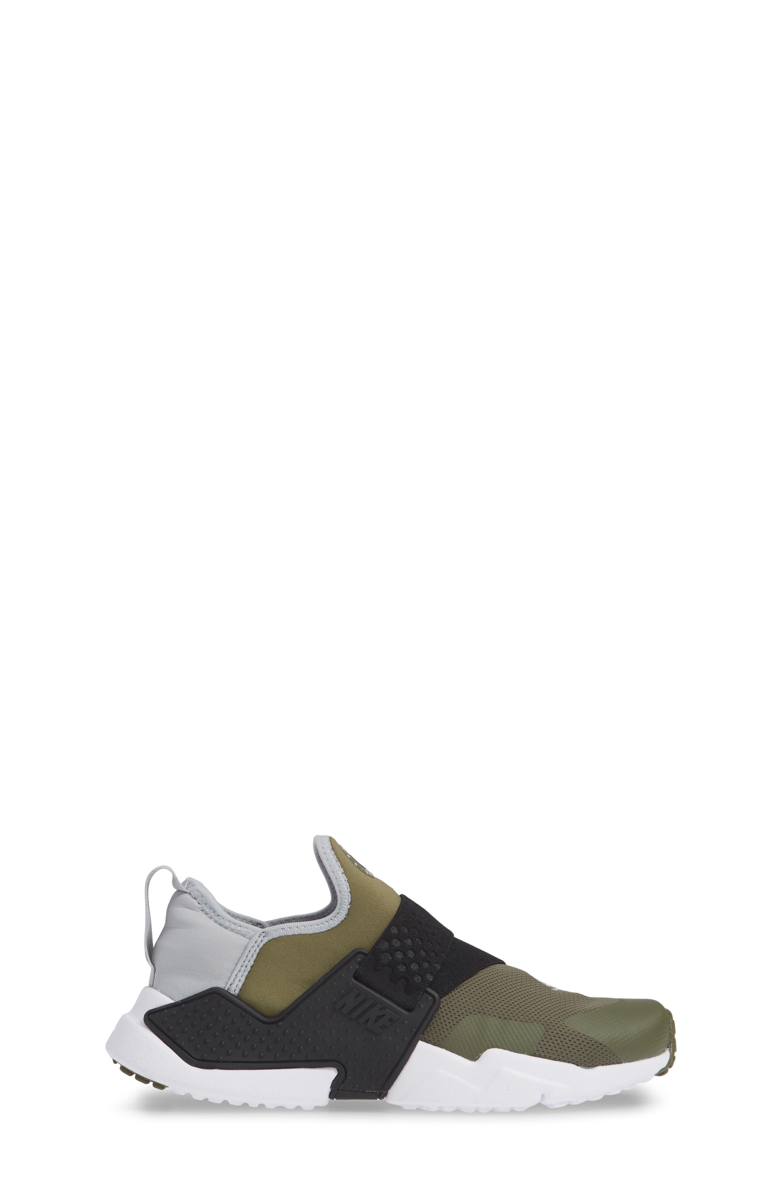 Huarache Extreme Sneaker,                             Alternate thumbnail 3, color,                             Olive/ Wolf Grey/ Black/ White