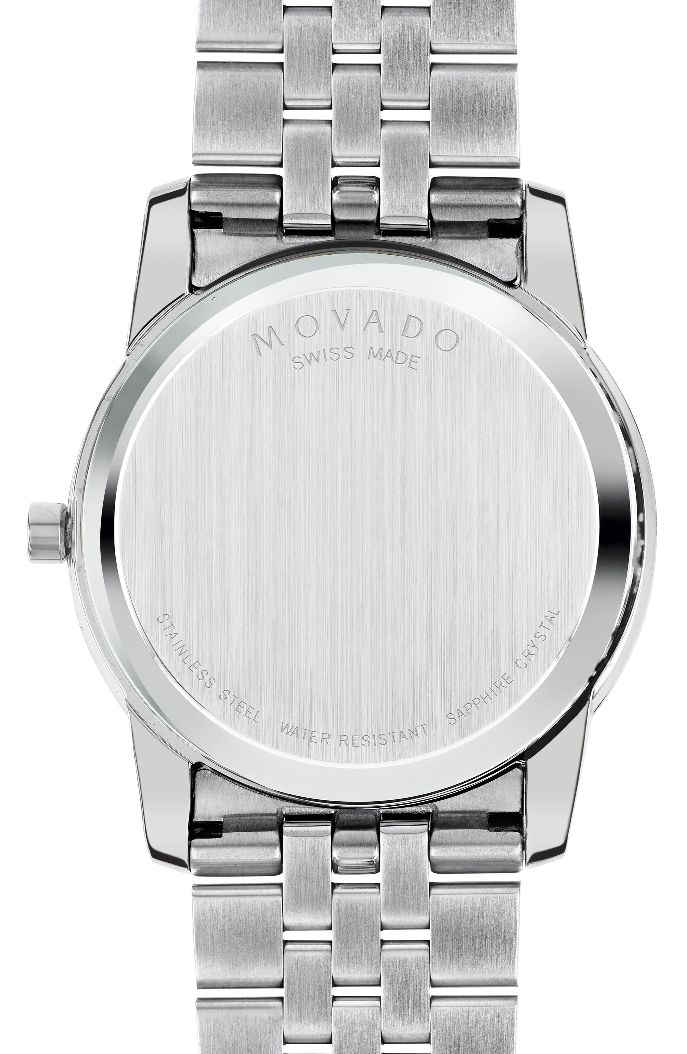 'Museum' Bracelet Watch, 40mm,                             Alternate thumbnail 2, color,                             Silver/ Black