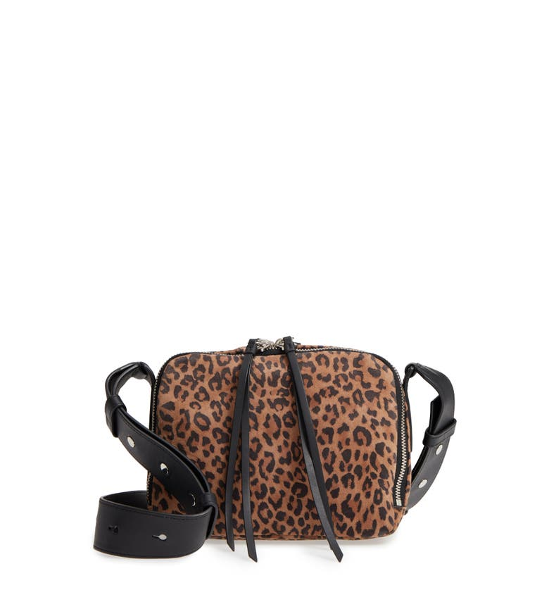 3418a68b83cf Allsaints Vincent Leather Crossbody Bag - Brown In Leopard  Black ...
