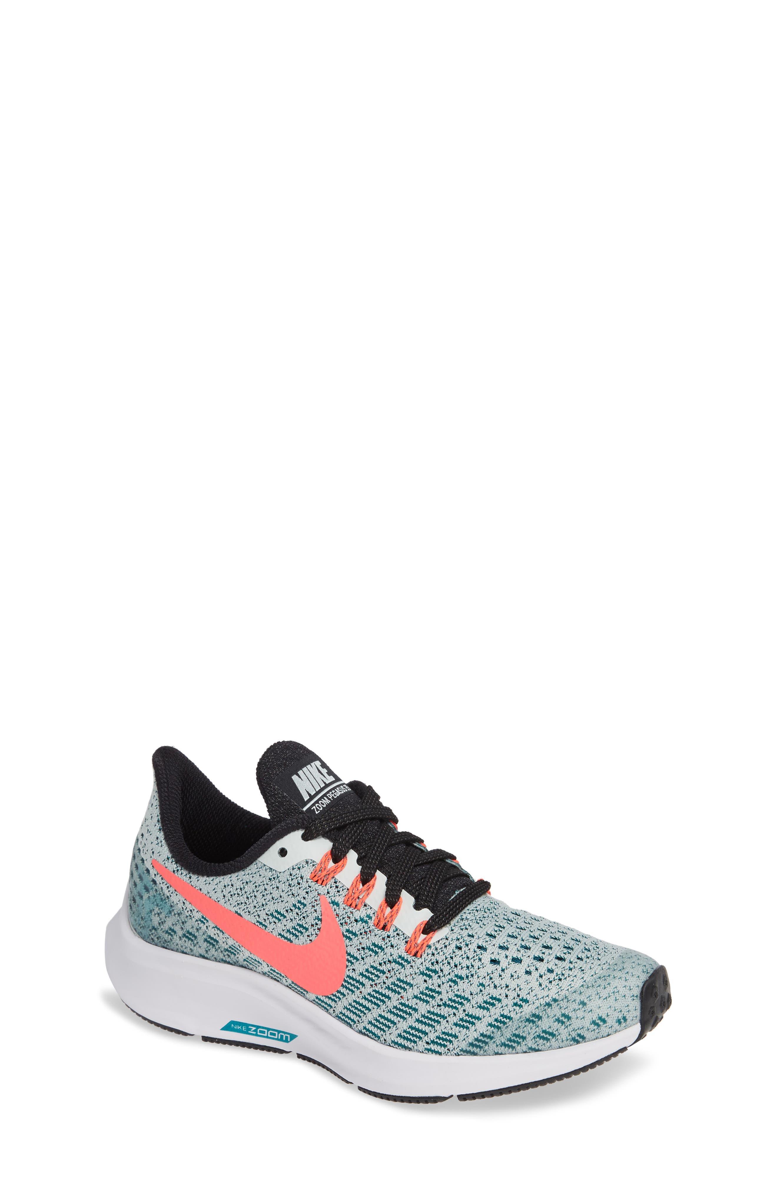 Air Zoom Pegasus 35 Sneaker,                         Main,                         color, Grey/ Hot Punch/ Teal/ Black