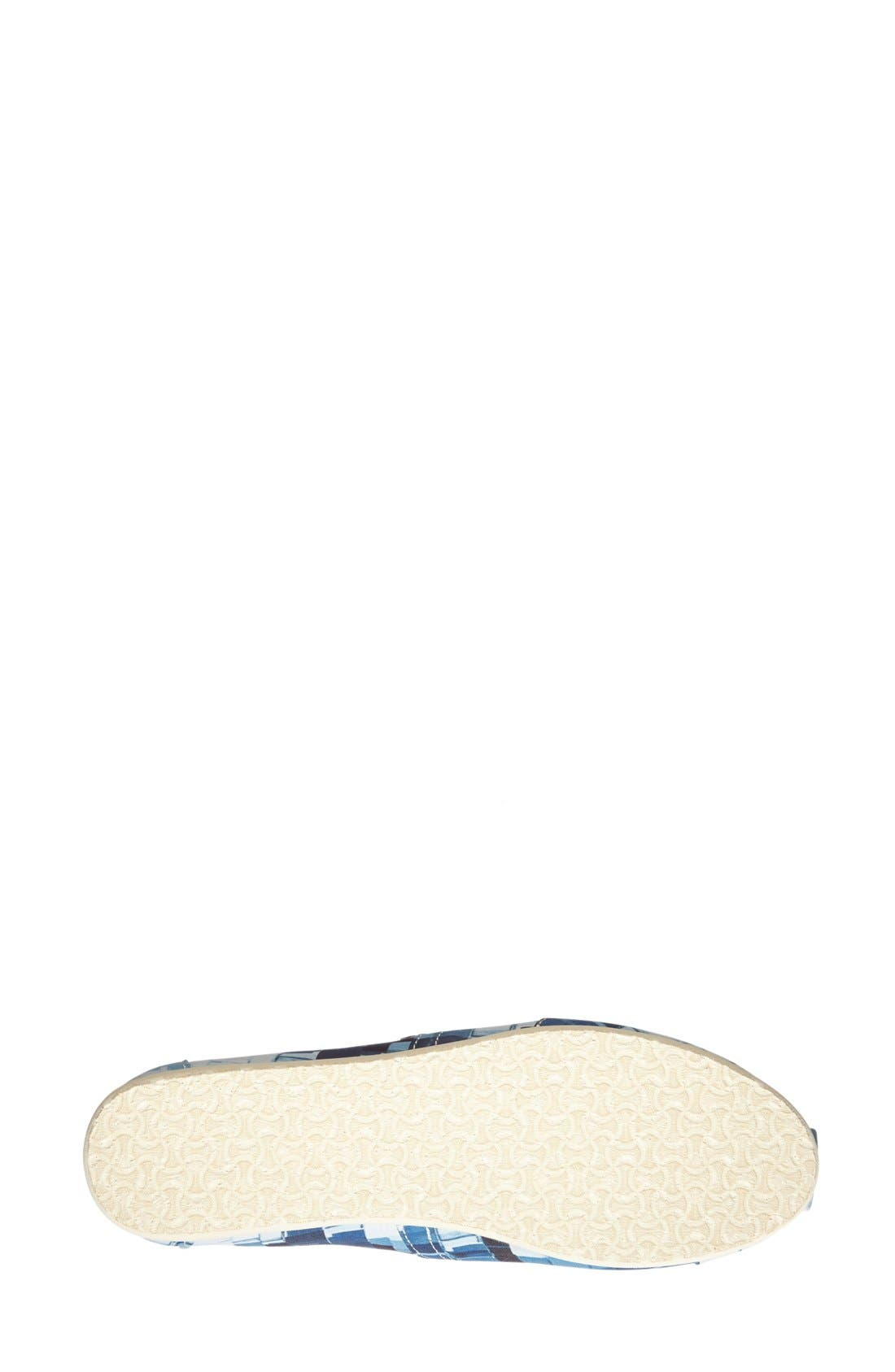 Alternate Image 4  - TOMS 'Paint Chips - Classic Alpargata' Satin Slip-On (Women)