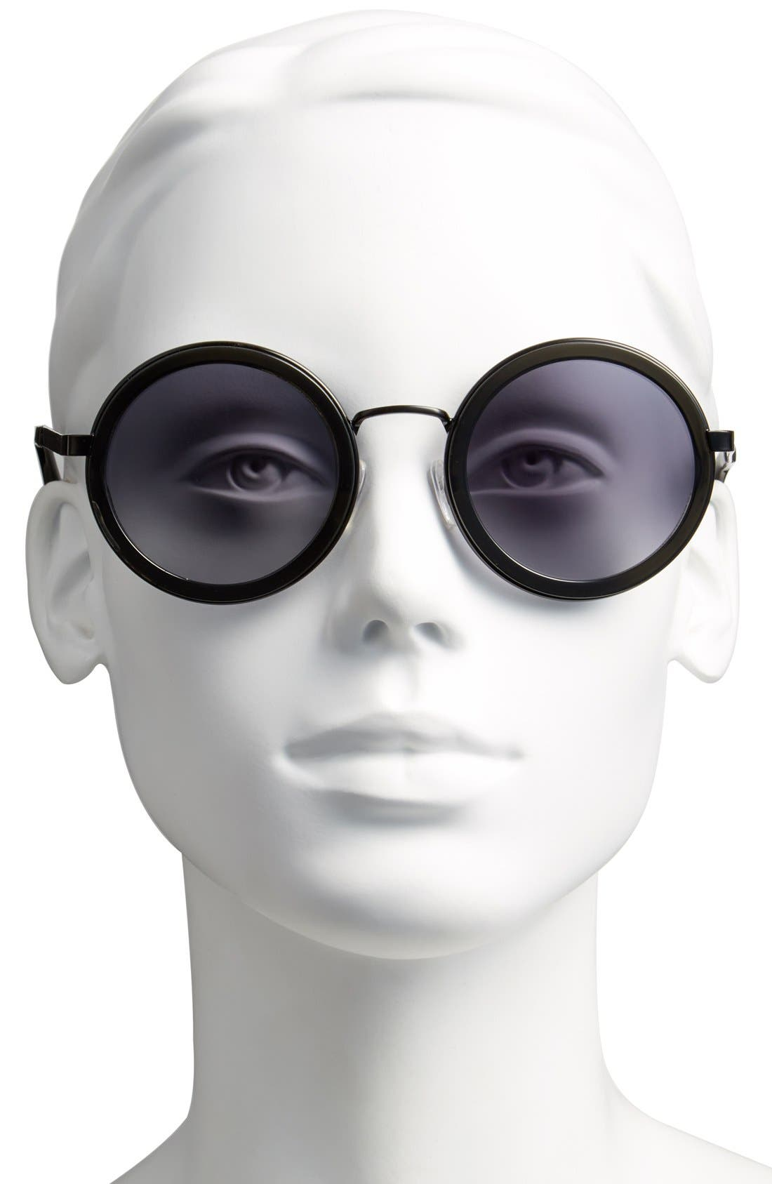 Alternate Image 2  - Oxydo 50mm Round Metal Accent Sunglasses