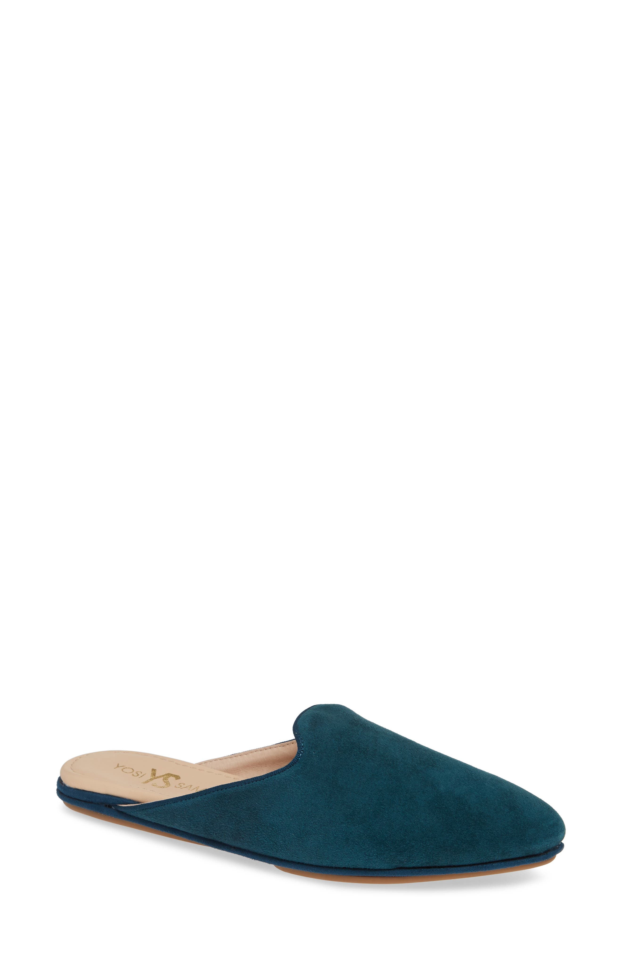 Vidi Mule,                         Main,                         color, Teal Suede