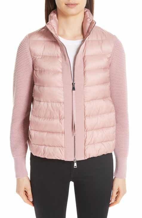 Moncler Quilted Down   Knit Cardigan 3708e7205d