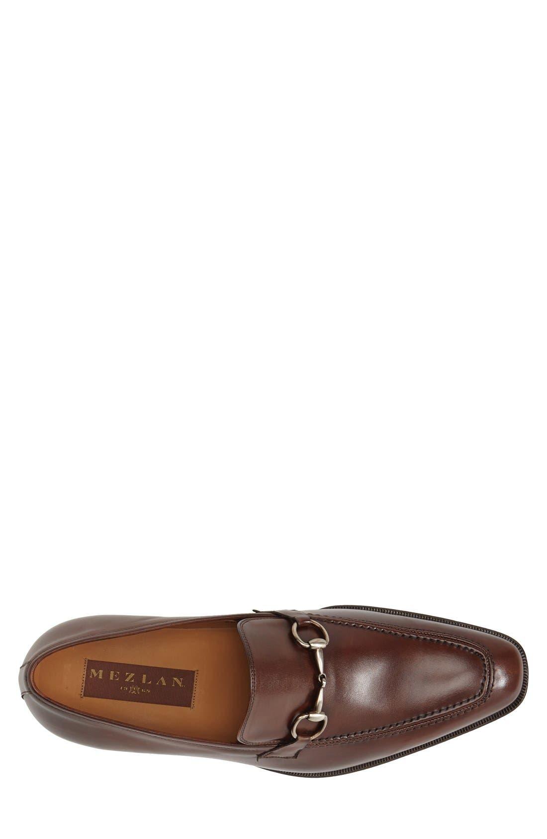 'Tours' Leather Bit Loafer,                             Alternate thumbnail 3, color,                             Cognac