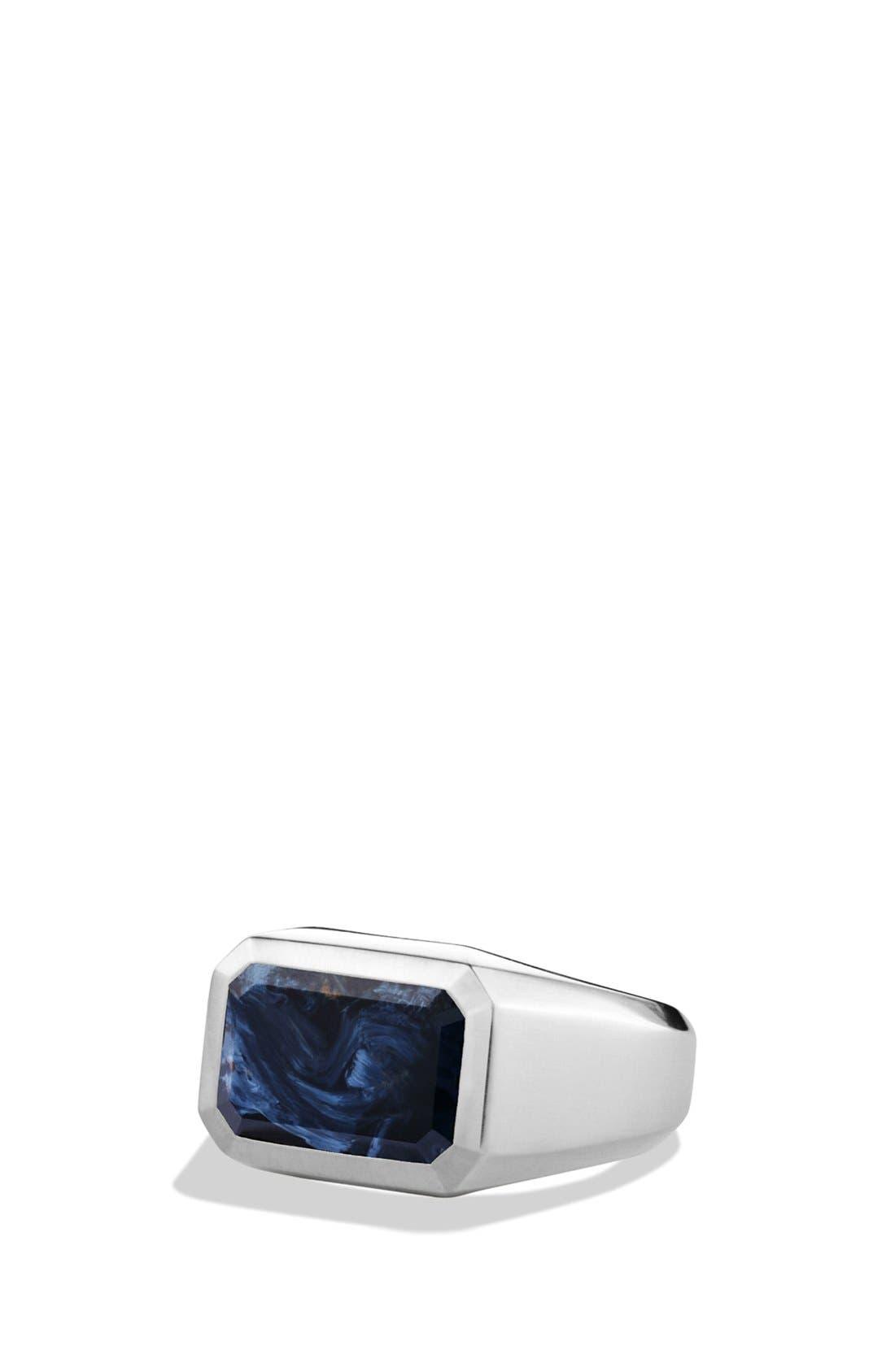 DAVID YURMAN Exotic Stone Signet Ring with Semiprecious Stone