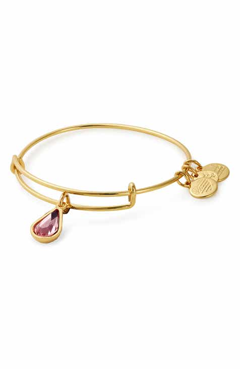 Alex And Ani Birthstone Adjule Wire Bangle
