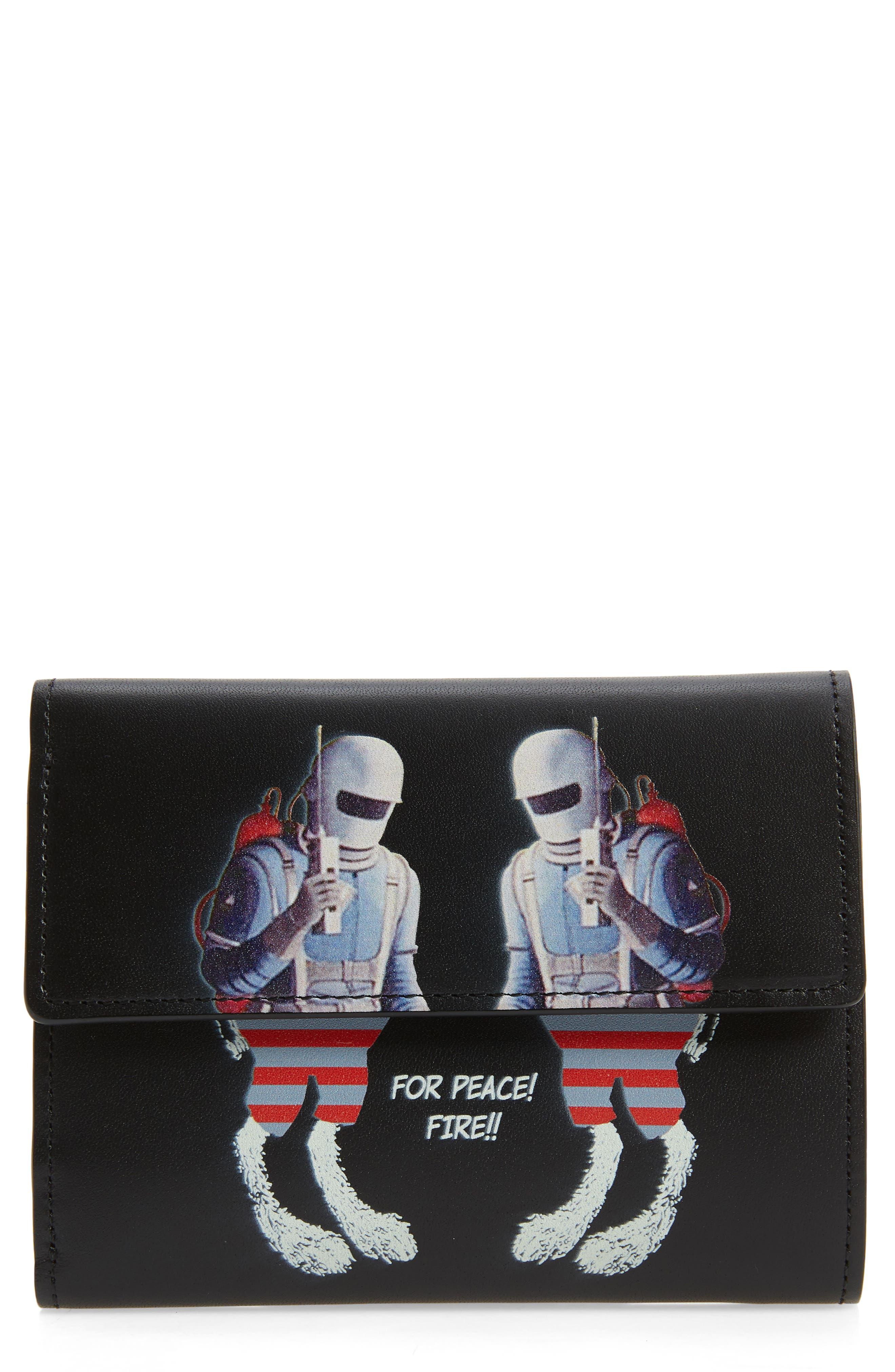 Spacemen Leather Wallet,                             Main thumbnail 1, color,                             Black