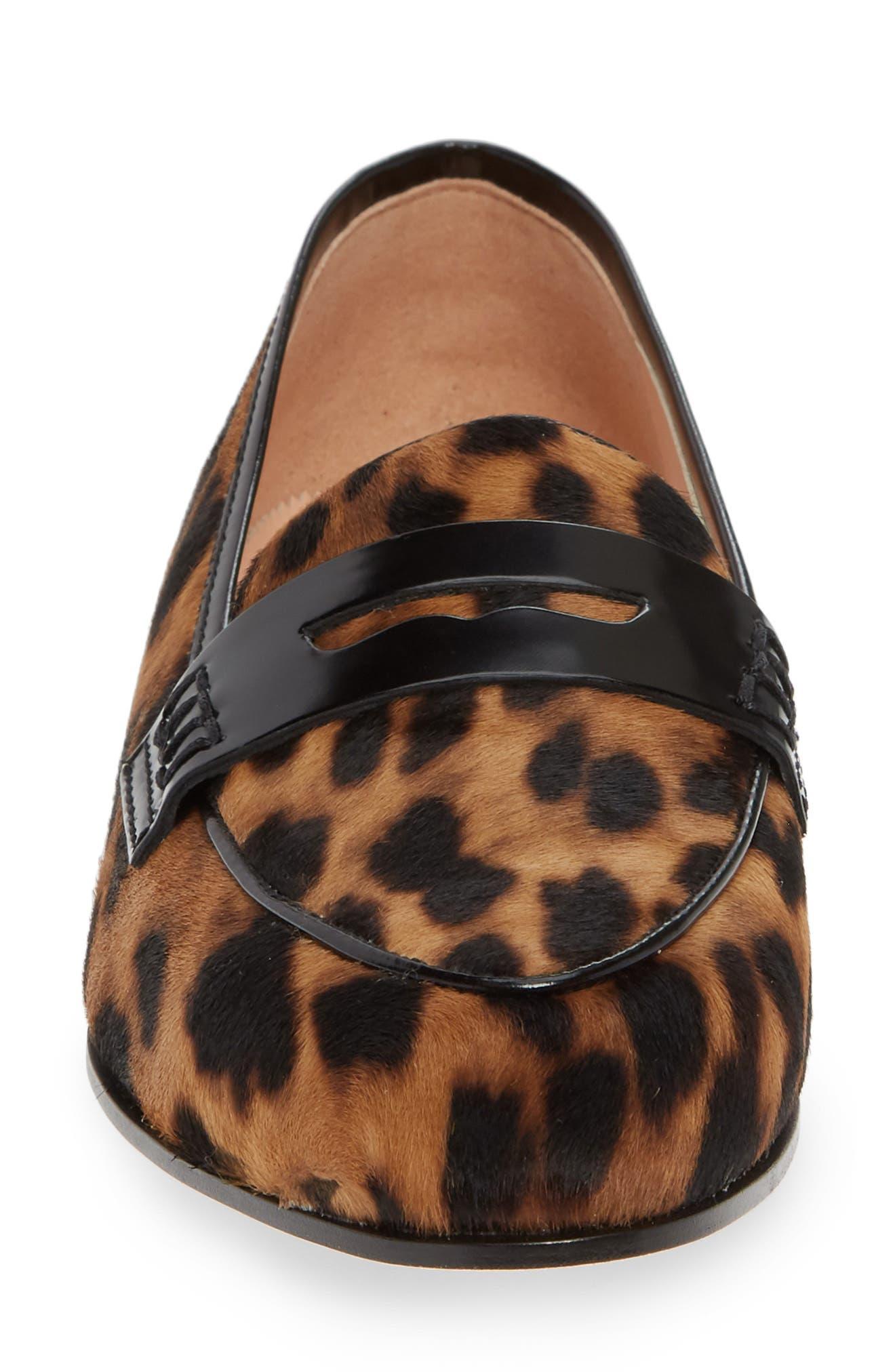 Academy Genuine Calf Hair Penny Loafer,                             Alternate thumbnail 6, color,                             Leopard Calf Hair