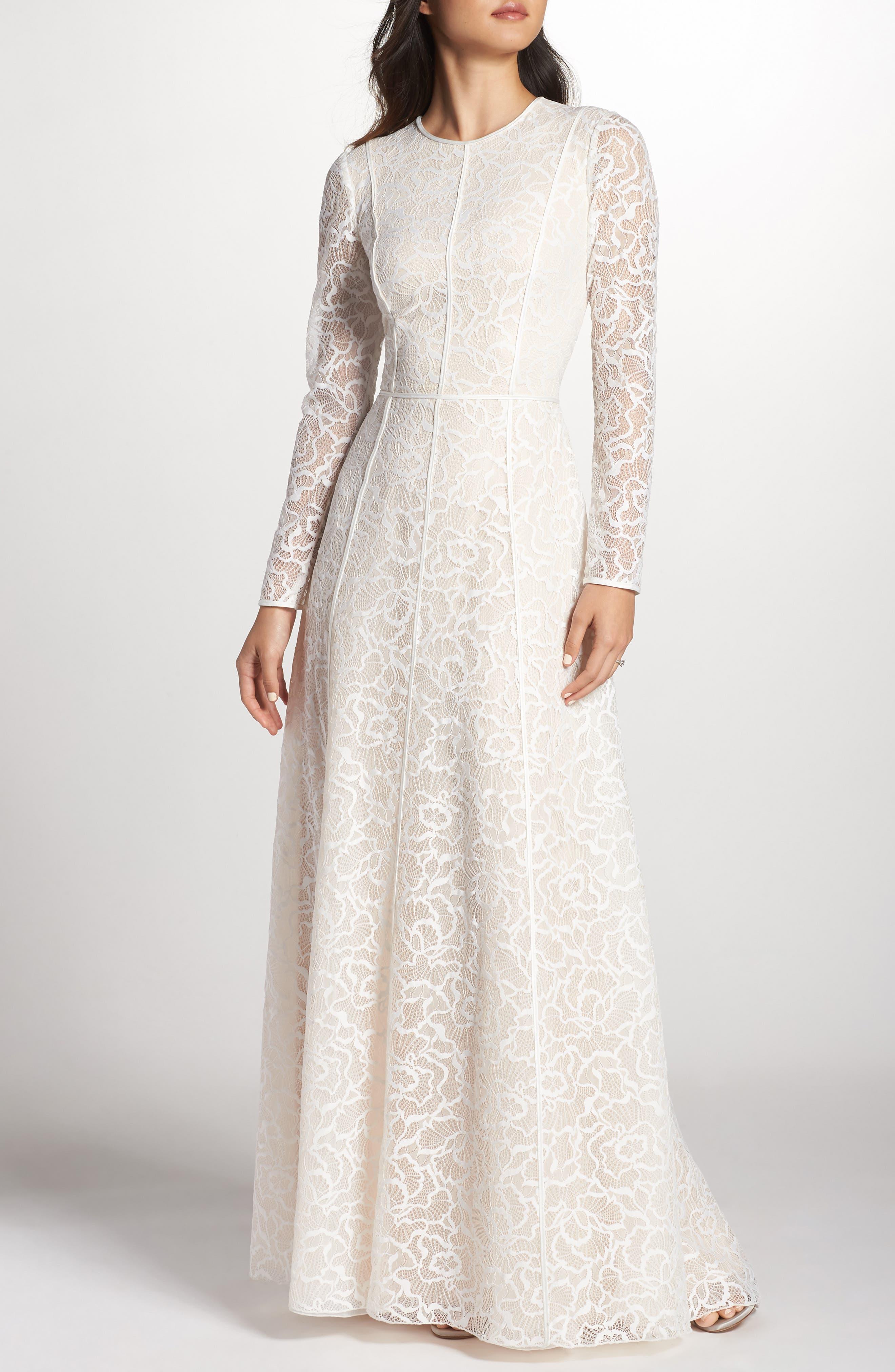 Sheer Sleeve Gown