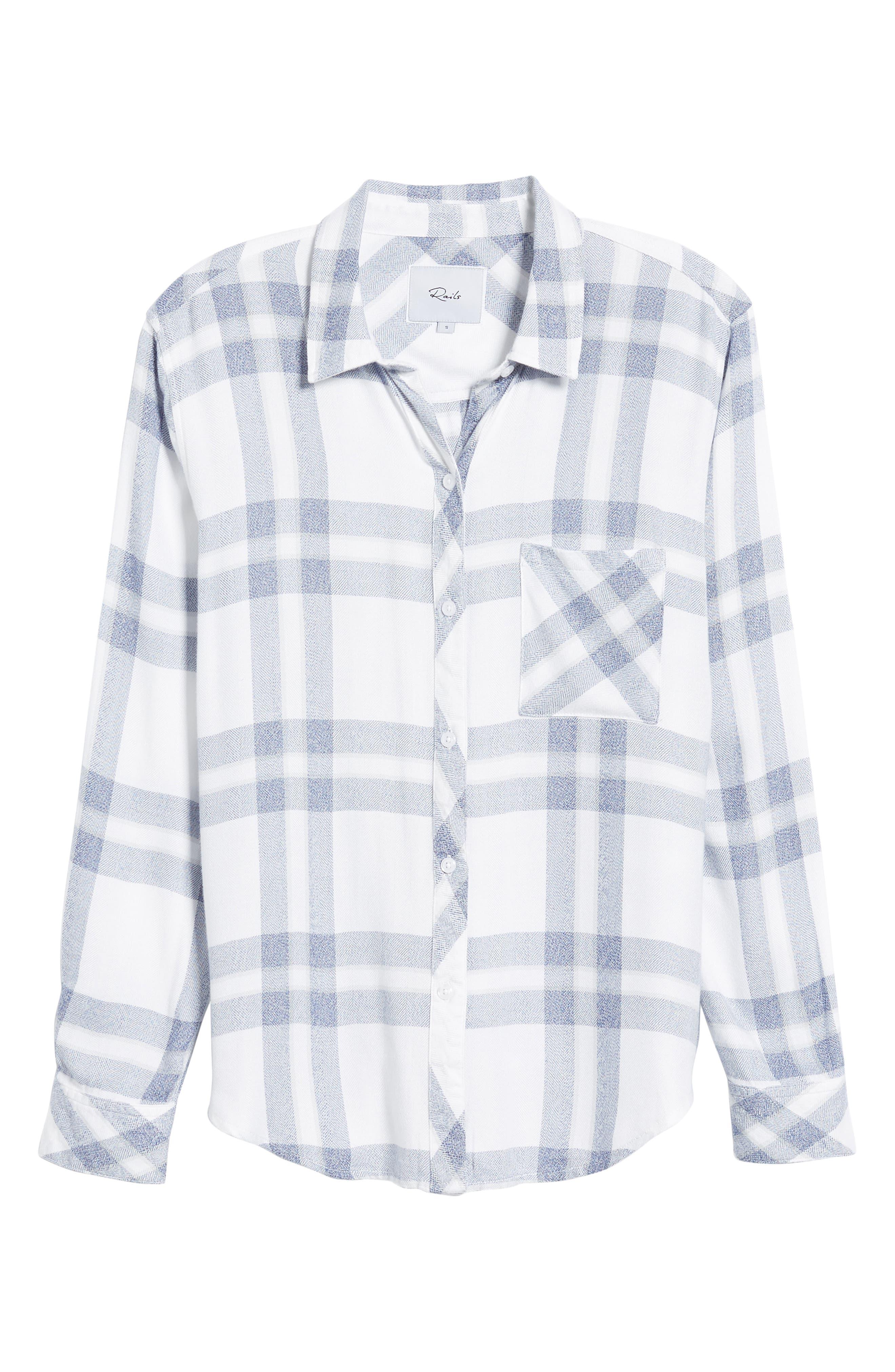 Hunter Plaid Shirt,                             Alternate thumbnail 7, color,                             Riverstone White