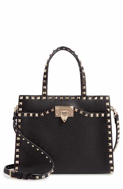 Valentino Garavani Small Rockstud Leather Satchel