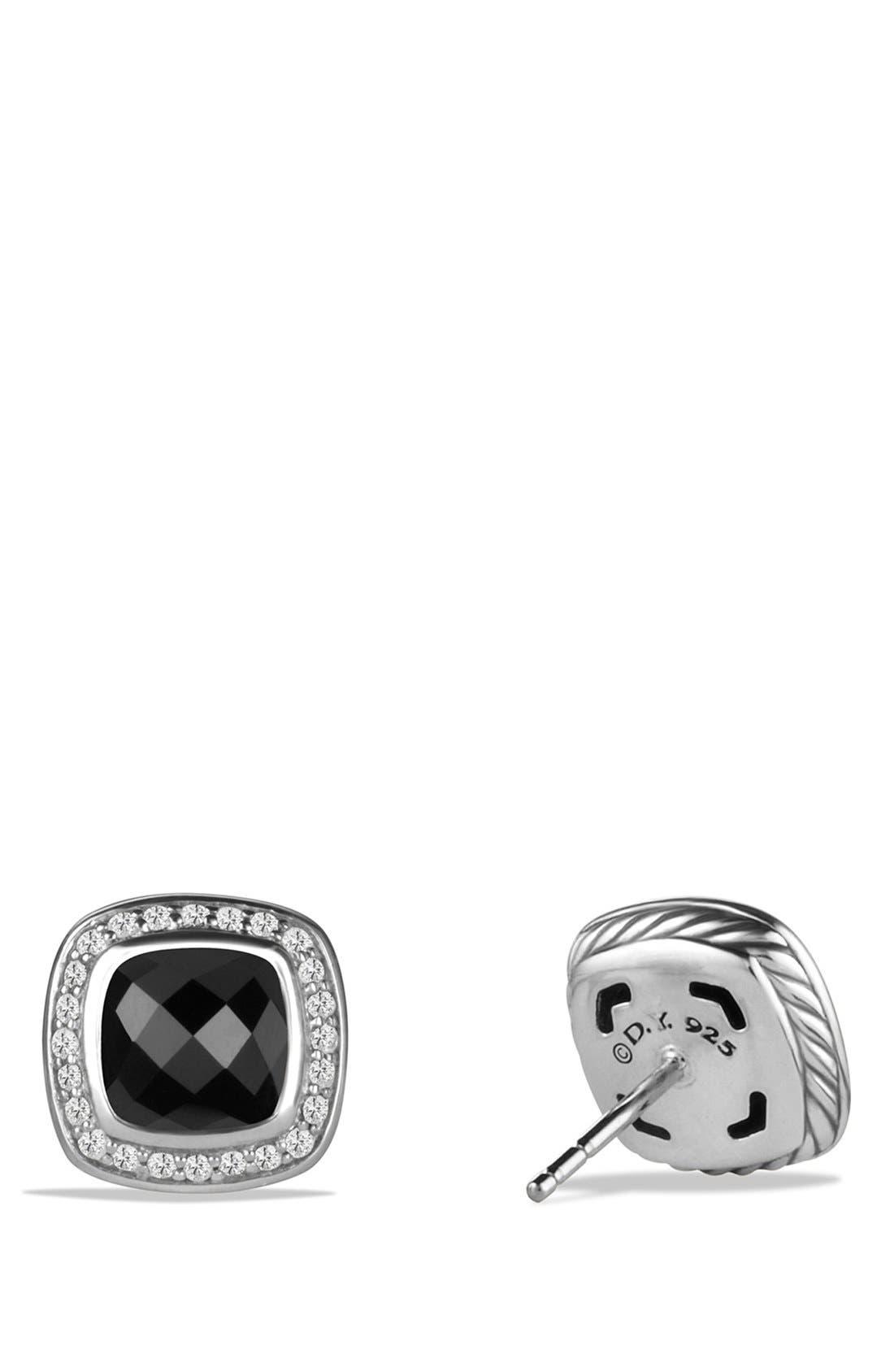 Alternate Image 2  - David Yurman 'Albion' Earrings with Semiprecious Stone and Diamonds