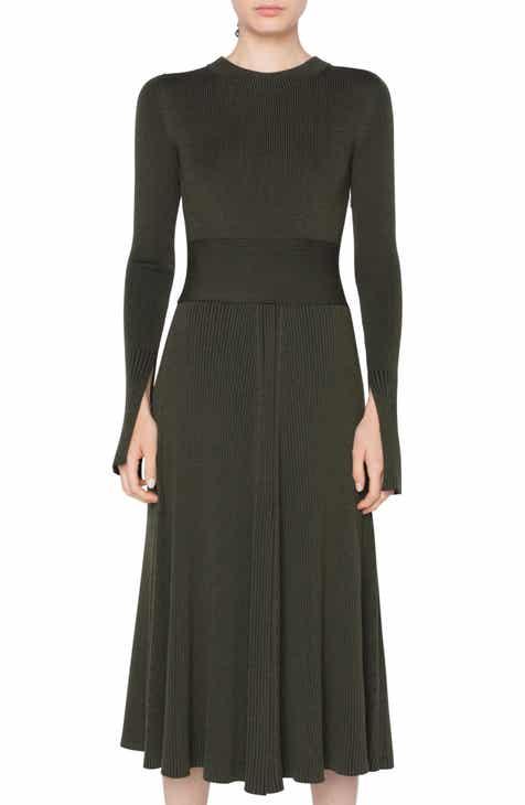 ae1b4335c9 Akris punto Rib Knit Merino Wool Midi Dress