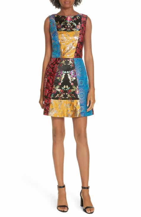 Alice Olivia Malin Patchwork Dress