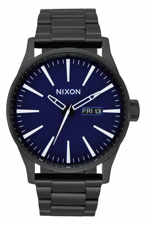 847cb0f43fd Nixon Sentry Bracelet Watch