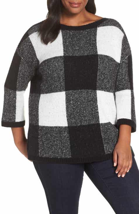 Sejour Buffalo Plaid Sweater (Plus Size) a272aa077