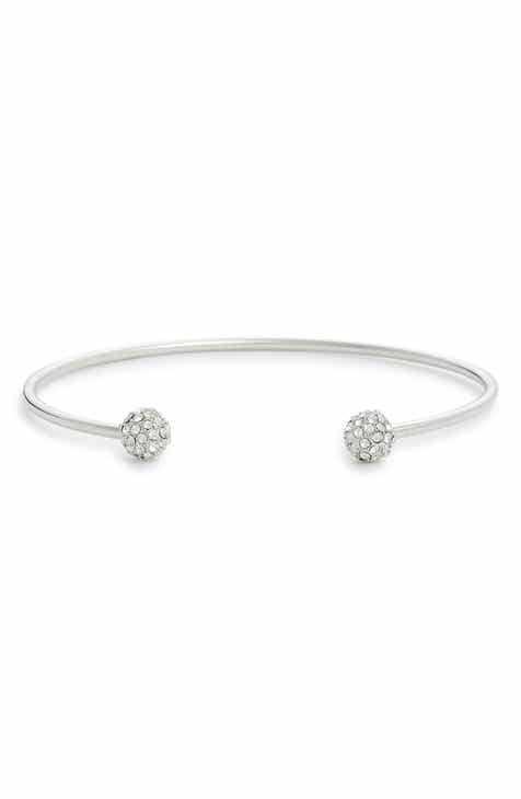 Nordstrom Pavé Sphere Open Cuff Bracelet
