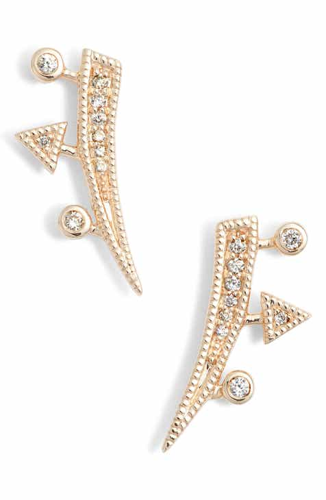 Dana Rebecca Designs Diamond Ear Crawlers
