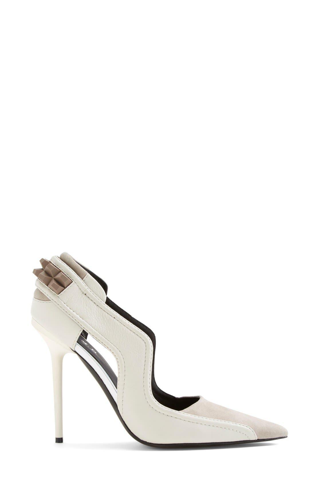 Alternate Image 4  - L.A.M.B. 'Enforce' Leather & Suede Pointy Toe Pump (Women)