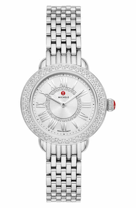 6c0b9e9b8 MICHELE Serein Mini Diamond Watch Head & Bracelet, 28mm