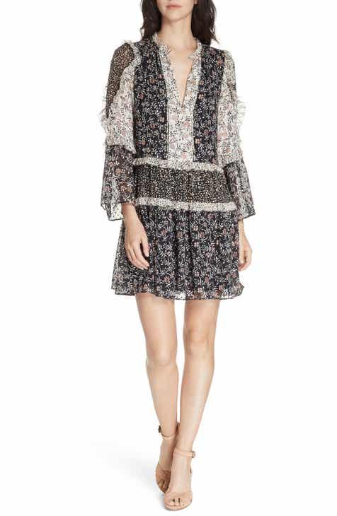 Ulla Johnson Essie Floral Print Silk Blend Minidress 3f79928ee