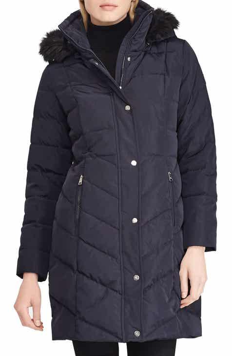 ccef8c6987ce Lauren Ralph Lauren Faux Fur Trim Down Jacket
