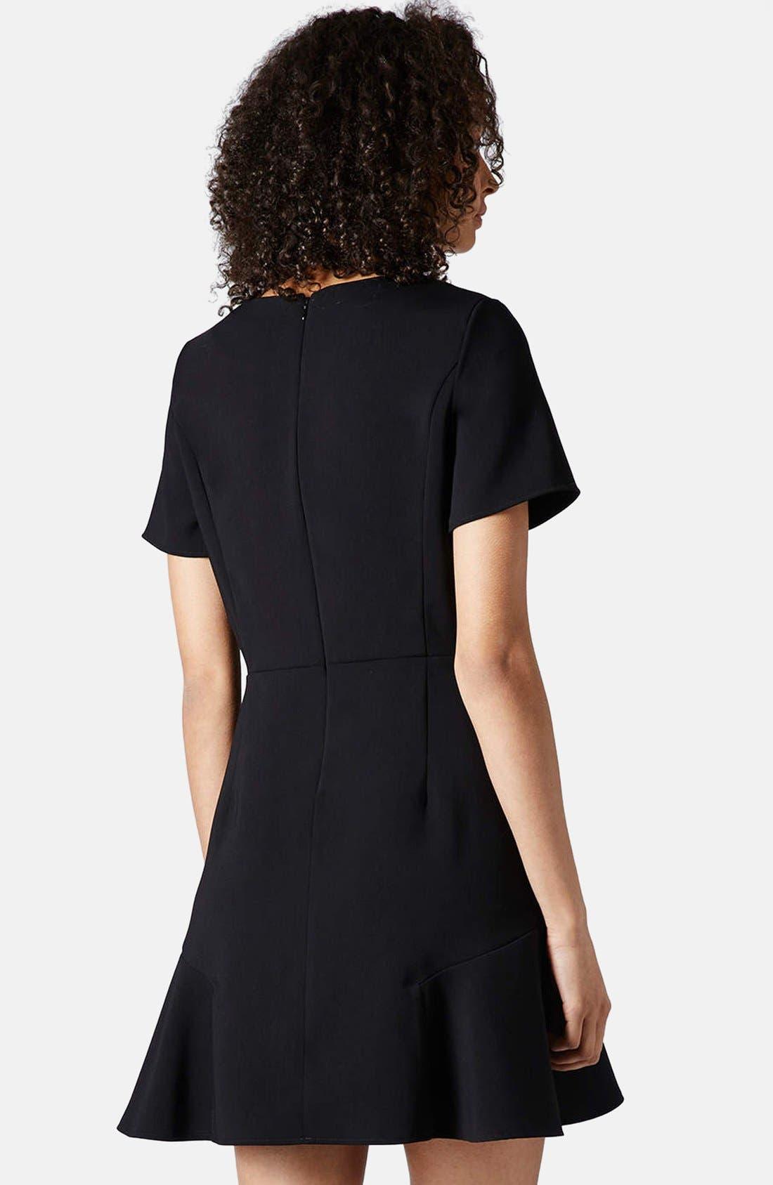 Alternate Image 2  - Topshop Flared Crepe Dress