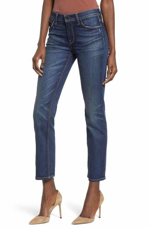 TRAVE Constance High Waist Ripped Straight Leg Jeans (Under Pressure) by TRAVE