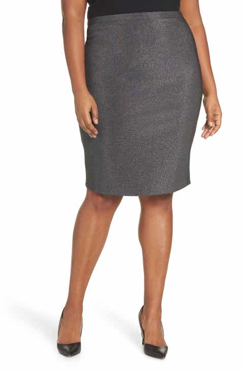 518c5c2cb56 Vince Camuto Sparkle Ponte Pencil Skirt (Plus Size)