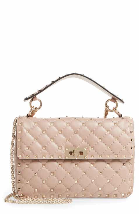41916b778 VALENTINO GARAVANI Medium Rockstud Matelassé Quilted Leather Crossbody Bag