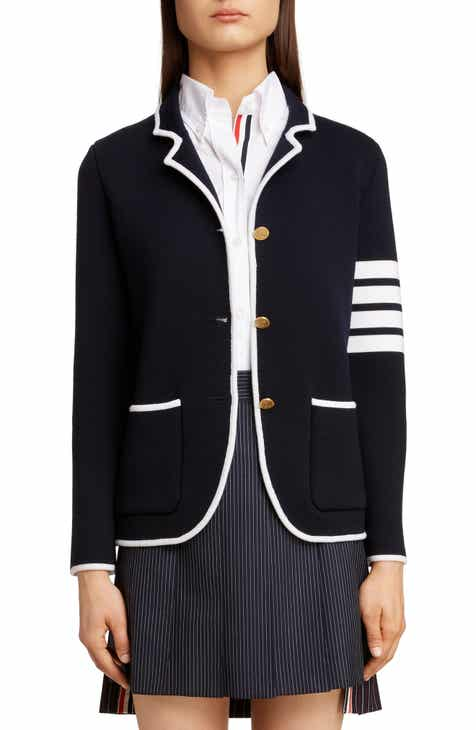 92737d1c501 Thom Browne 4-Bar Merino Wool Blazer