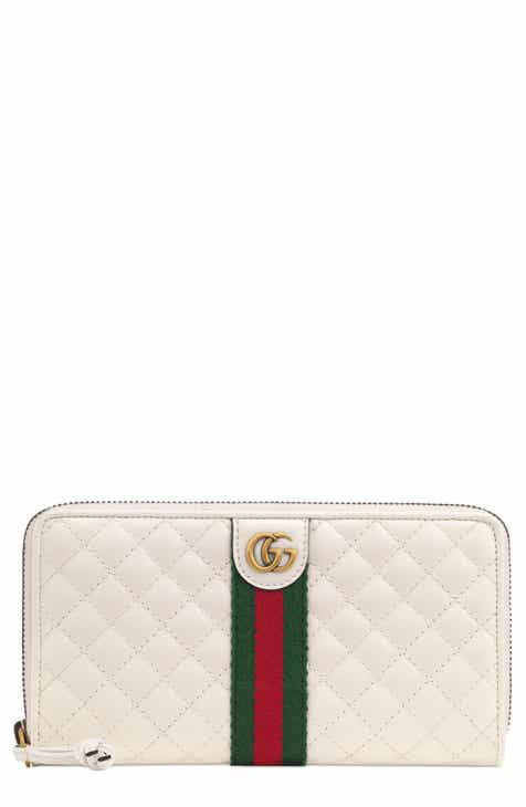 2b2f63924845 Gucci Quilted Leather Zip Around Continental Wallet